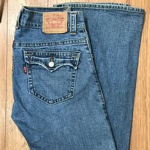 Levis 542 Low Flare Womens Size 10M